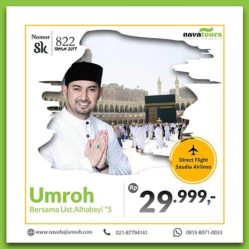 umrah bersama ust ahmad alhabsyi 2019 bnt 5 rp 29 jutaan nava tour
