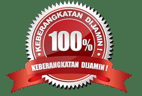 jaminan keberangkatan 100%